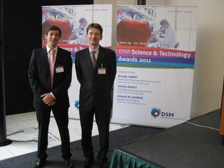 Antoine received a prestigious award for his PhD work