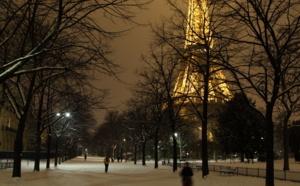 Snow in Paris!